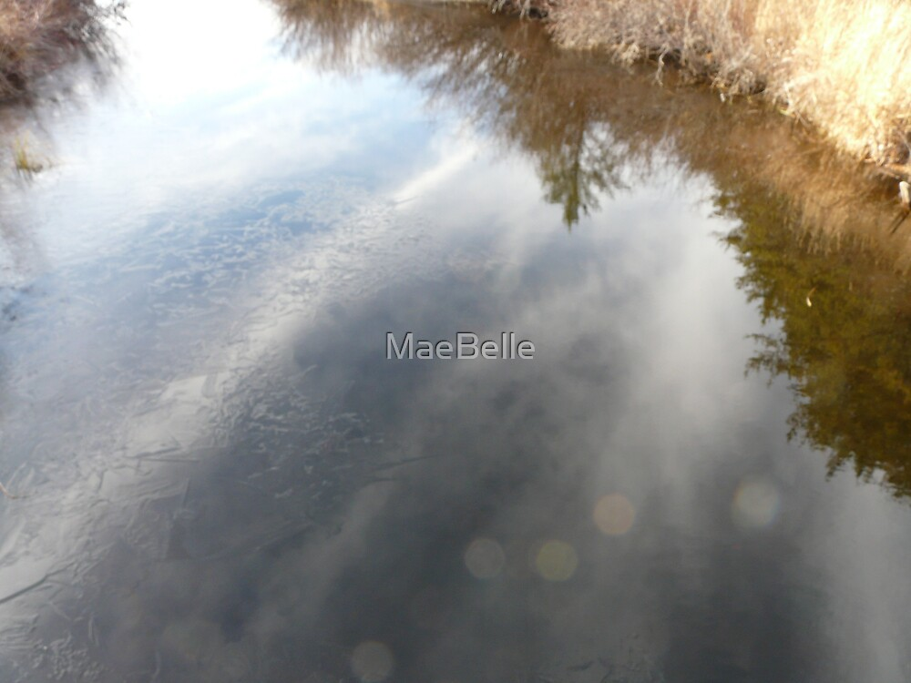 Reflections on ice and water by MaeBelle