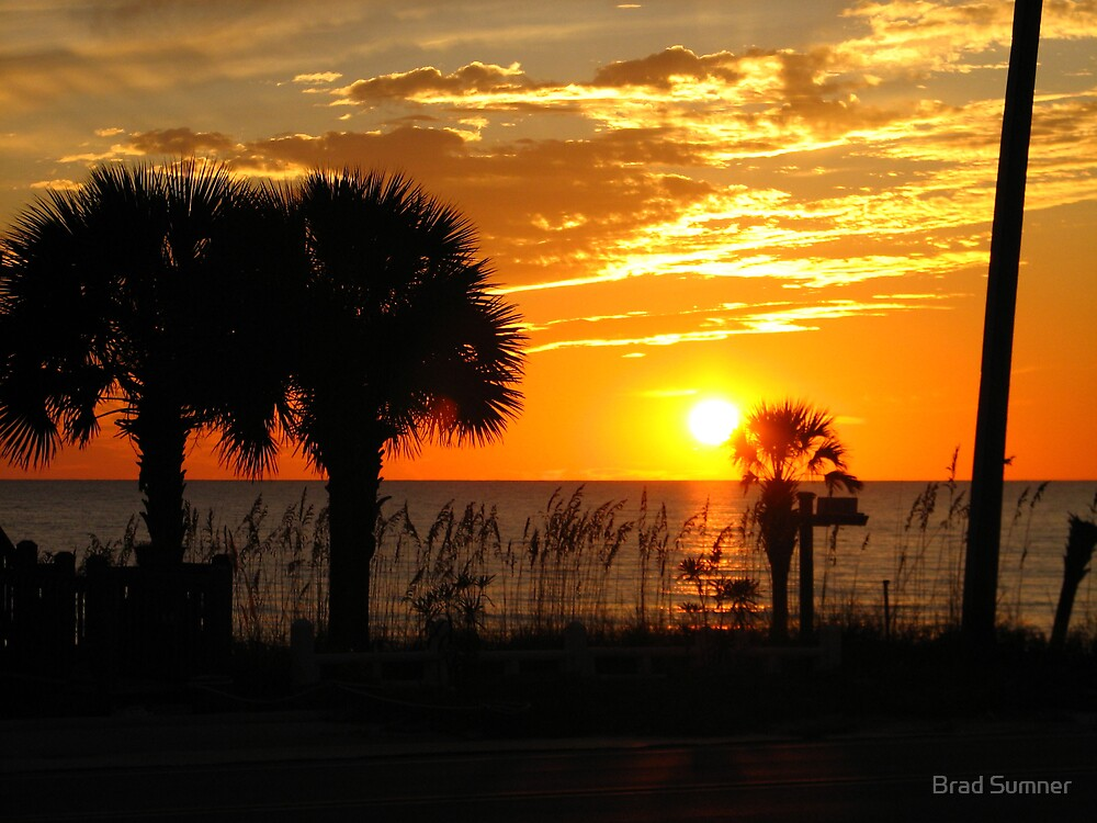 Sunset at Mexico Beach Florida by Brad Sumner