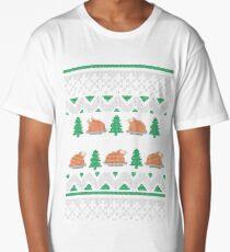 Knitted Chicken Green 2 Long T-Shirt