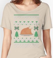 Knitted Chicken Green Women's Relaxed Fit T-Shirt