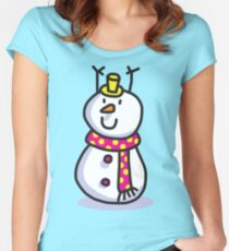 Snowmen Merry Christmas  Women's Fitted Scoop T-Shirt