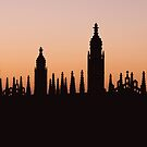 King's College Silhouette by Ana Andres-Arroyo