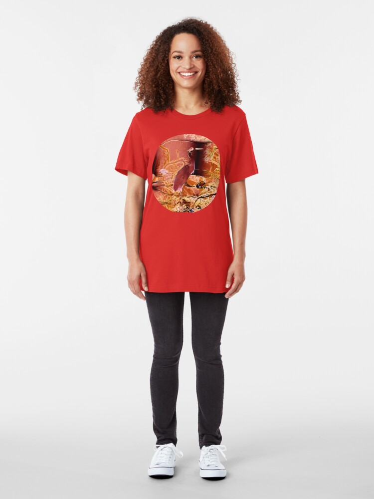 Alternate view of Migratory Cranes  Slim Fit T-Shirt