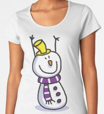 Snowmen Merry Christmas Women's Premium T-Shirt