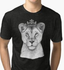 The Queen on black Tri-blend T-Shirt