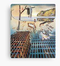 Die Desintegration des Beharrens des Gedächtnisses - Salvador Dalí Metallbild