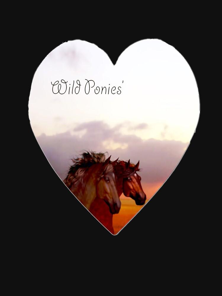 Wild ponies  by valzart