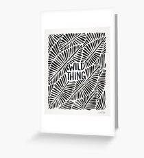 Wild Thing – Black Palette Greeting Card