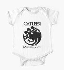 Catleesi - Mother of Cats - Game Of Thrones Inspired - Black One Piece - Short Sleeve