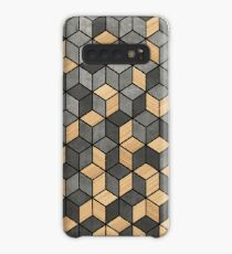Concrete and Wood Cubes Case/Skin for Samsung Galaxy