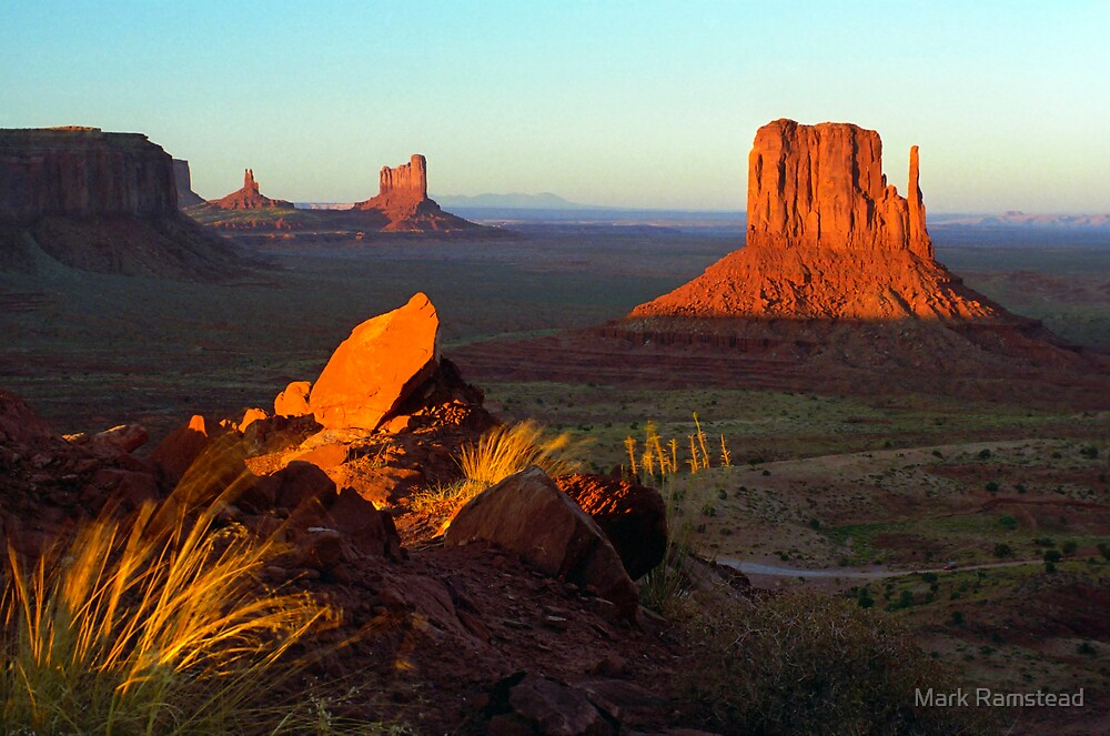 Monument Valley From the Ridge. by Mark Ramstead