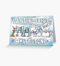 A Very Merry Winter's Crest from Whitestone Greeting Card