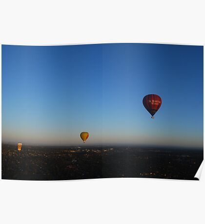 Hot Air Balloons over Melbourne Poster