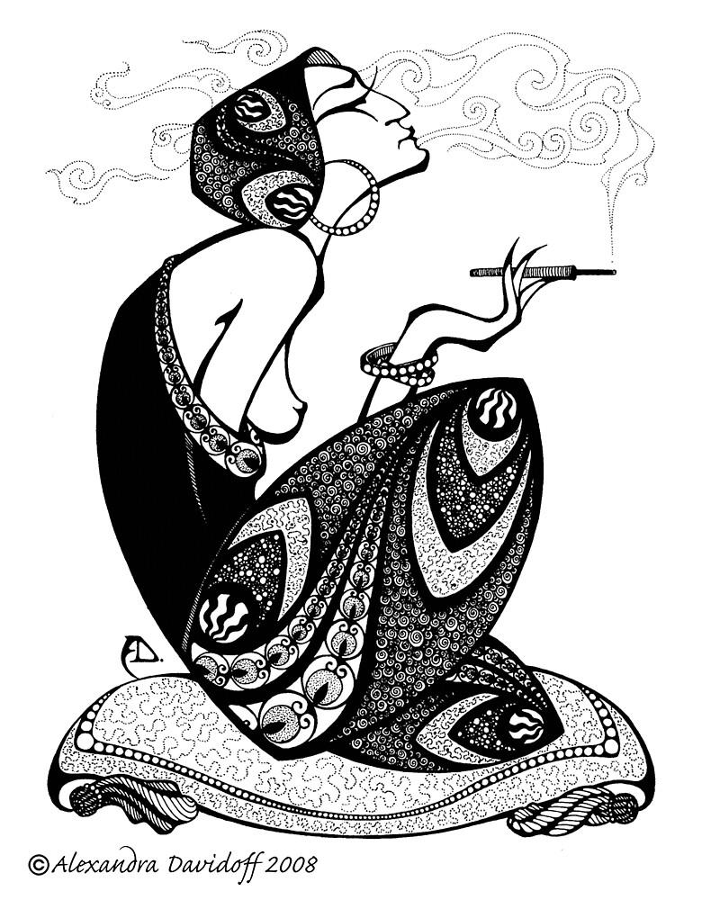 the Smoking Lady by davidoff