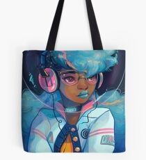Space Letterman Tote Bag