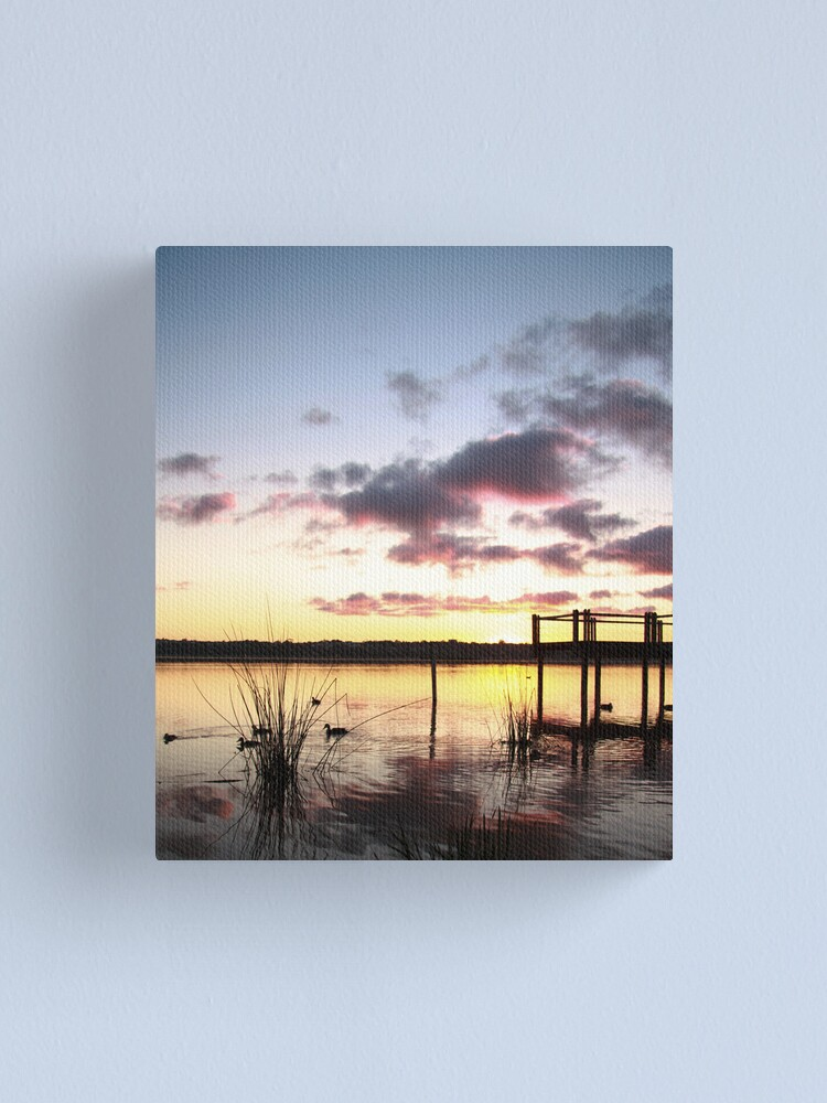 Alternate view of Sunrise over Lake Joondalup Canvas Print