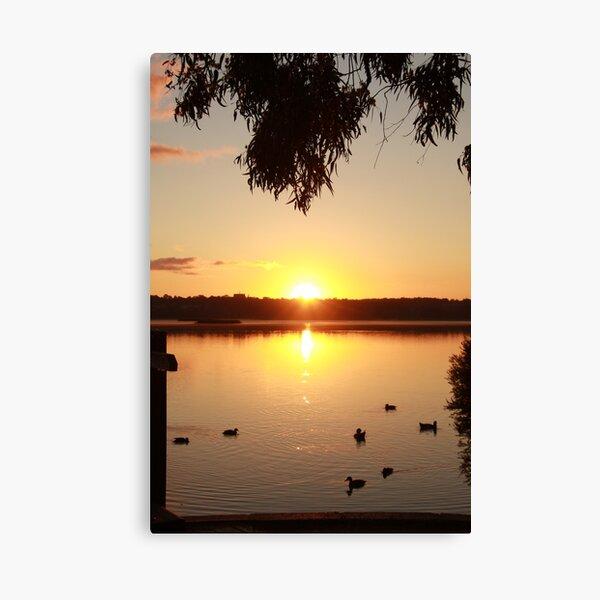 Sunrise over Lake Joondalup Canvas Print
