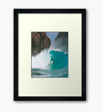 sport and action Surf Framed Print
