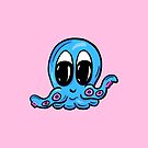 Cute Cartoon Octopus in Pink by Shelly Still
