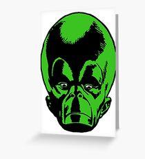 Big Green Mekon Head  Greeting Card