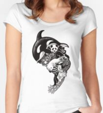 Monochromanimal Women's Fitted Scoop T-Shirt