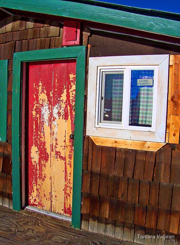 Floathouse Red Door by Tamara Valjean