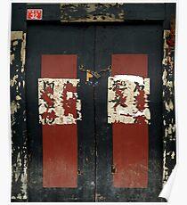 Hutong Doors Poster