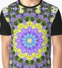 Summer Floral Pattern Graphic T-Shirt