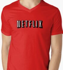 Netflix WHITE V-Neck T-Shirt