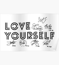 BTS - Love Yourself #Signed Poster