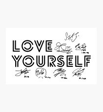 BTS - Love Yourself #Signed Photographic Print