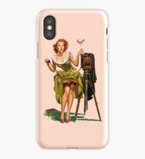 Retro Beautiful Photographer Camera Pin up Girl iPhone Case/Skin