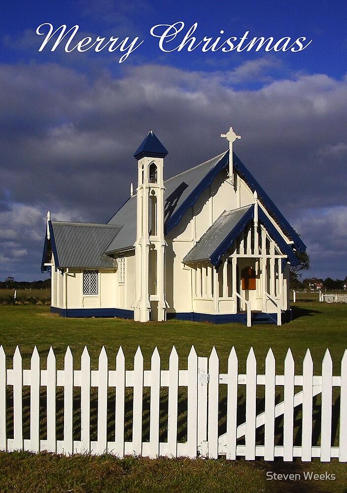 Christ Church, Church of England, Tarraville, Merry Christmas by Steven Weeks