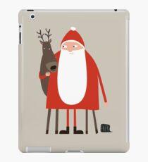 Weihnachtsmann mit Rentier iPad Case/Skin