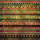 Magic aztec grungy tribal pattern by mikath