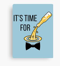 It's Time For Drinking! (Bottle / Beer / Bow Tie) Canvas Print