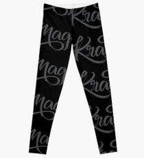 Krav Maga Black Script Leggings