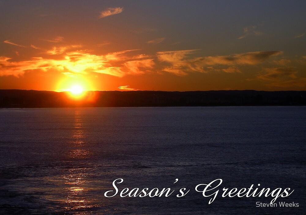 Sunset, Season's Greetings by Steven Weeks