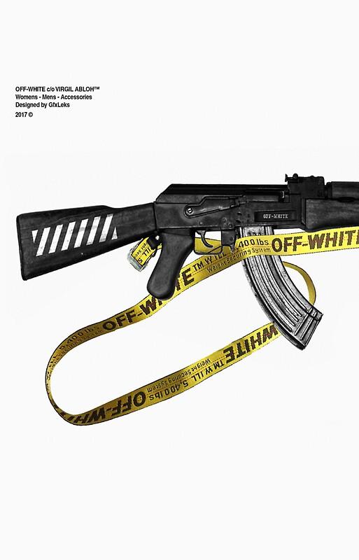 OFF-WHITE AK/ CASE/ LAPTOP CASES/ STICKERS by Kia Margot