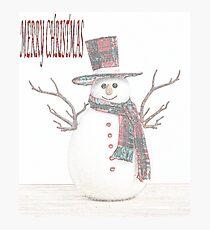 HAPPY SNOWMAN Photographic Print