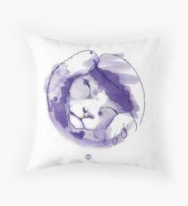 Purple kitten Cojín