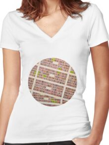 MEXICO CITY Women's Fitted V-Neck T-Shirt