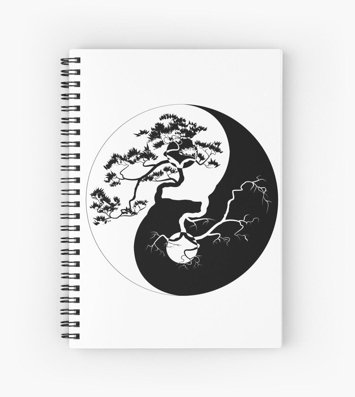 Yin And Yang Boho Trees Yin Yang Symbol For Balance And Harmony