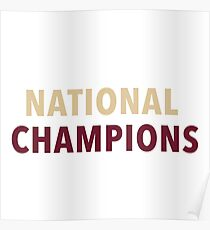 FSU National Champions Poster
