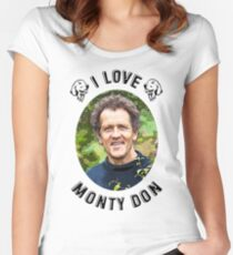 I Love Monty Don Women's Fitted Scoop T-Shirt
