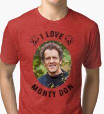 I Love Monty Don Tri-blend T-Shirt