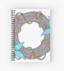 Stargate With Flowers Spiral Notebook