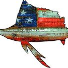 Marlin Fish USA Murica by Statepallets