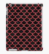 SCALES1 BLACK MARBLE & RED COLORED PENCIL (R) iPad Case/Skin
