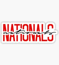 washington nationals team name font Sticker